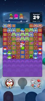 Stage 1173 from Dr. Mario World