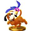 Duck Hunt trophy from Super Smash Bros. for Wii U