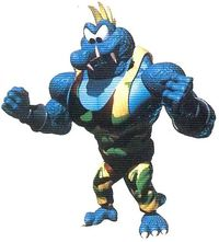 Official artwork of Krusha. Image scanned from the Donkey Kong Country (GBA) Player's Guide.