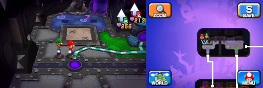 Location of the eighth and ninth beanholes in Neo Bowser Castle (Dream Team's version).