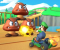 The icon of the Lakitu Cup challenge from the Vancouver Tour and the Dry Bones Cup challenge from the Summer Tour in Mario Kart Tour