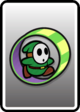 A Green Roller Guy card from Paper Mario: Color Splash