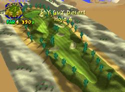 Hole 4 of Shy Guy Desert from Mario Golf
