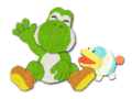 YCW 2D Yoshi and Poochy Pup Artwork.png