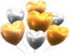 Silver-and-Gold Hearts from Mario Kart Tour