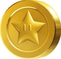 Artwork of a Star Coin in New Super Mario Bros. U