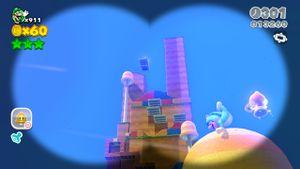 Hidden Luigi in Mount Beanpole.