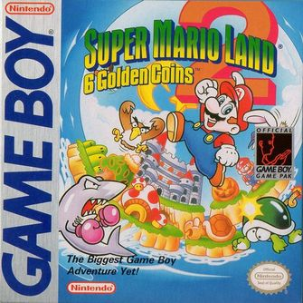 The boxart for Super Mario Land 2: 6 Golden Coins.