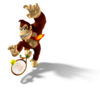Artwork of Donkey Kong from Mario Power Tennis.