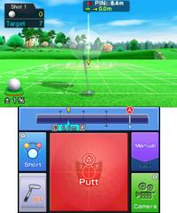 Putting Practice in golf in Mario Sports Superstars