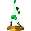 Little Mac trophy from Super Smash Bros. for Wii U