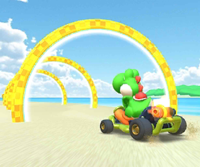 The icon of the Toad Cup's challenge from the 2020 Trick Tour in Mario Kart Tour.