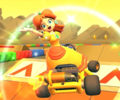 The icon of the Peach Cup challenge from the Flower Tour and the Baby Peach Cup challenge from the Berlin Tour in Mario Kart Tour.