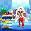 Fire Mario Mii Costume in the game Mario & Sonic at the London 2012 Olympic Games for the Wii.