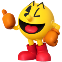 Artwork of Pac-Man in Super Smash Bros. for Nintendo 3DS / Wii U.