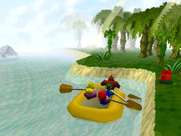 The minigame Paddle Battle.