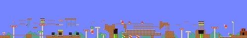 Layout of Ma Rio Hills in Super Mario Maker.
