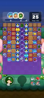 Stage 1053 from Dr. Mario World