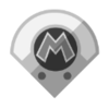 Metal Mario's emblem from baseball from Mario Sports Superstars