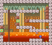 Level 5-2 map in the game Mario & Wario.