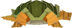 An origami Earth Vellumental from Paper Mario: The Origami King.