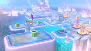 Luigi sighting on the World 3 map in Super Mario 3D World.
