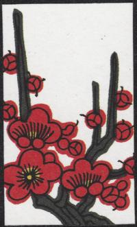 Third card of February in the Club Nintendo Hanafuda deck.