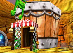 Candy's Music Shop in the game Donkey Kong 64.