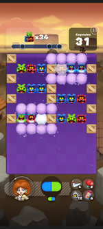 Stage 239 from Dr. Mario World