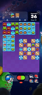 Stage 291 from Dr. Mario World
