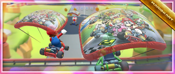 The Super Mario Kart Glider Pack from the Super Mario Kart Tour in Mario Kart Tour