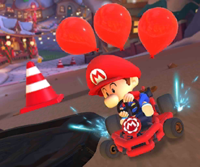 The icon of the Roy Cup challenge from the 2020 Winter Tour in Mario Kart Tour