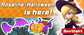 The Halloween Pipe 1 from the Halloween Tour (2019) in Mario Kart Tour