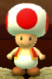 Red Toad as viewed in the Character Museum from Mario Party: Star Rush