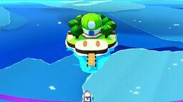 Mushroom Island in Paper Mario: The Origami King