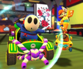 The icon of the Baby Mario Cup challenge from the Ninja Tour in Mario Kart Tour