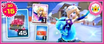 The Team Peach Rosalina (Aurora) Pack from the Mario vs. Peach Tour in Mario Kart Tour