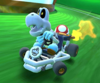 The icon of the Bowser Cup challenge from the New Year's Tour and the Peachette Cup challenge from the 2021 Yoshi Tour in Mario Kart Tour