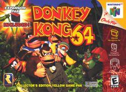 North American boxart of Donkey Kong 64.