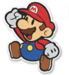 Mario jumping in Paper Mario: The Origami King.