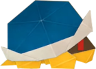 An origami Buzzy Beetle from Paper Mario: The Origami King.