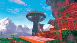Wooded Kingdom artwork from Super Mario Odyssey.