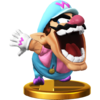 Wario trophy from Super Smash Bros. for Wii U