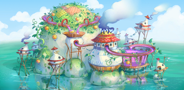 Concept artwork, unlocked in the Extras menu after collecting all Puzzle Pieces in Frosty Fruits