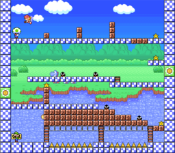 Level 2-8 map in the game Mario & Wario.