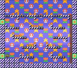 Level EX-1 map in the game Mario & Wario.