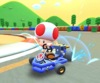 The icon of the Daisy Cup challenge from the London Tour and the Ice Mario Cup challenge from the Mario vs. Luigi Tour in Mario Kart Tour.