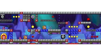 Miiverse screenshot of the 40th official level in the online community of Mario vs. Donkey Kong: Tipping Stars