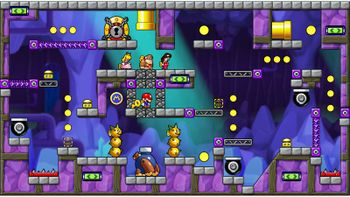 Miiverse screenshot of the 98th official level in the online community of Mario vs. Donkey Kong: Tipping Stars