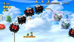 Luigi sighting in Frozen Fuzzies from New Super Luigi U